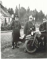 40k WW2 photo of early BMW-R12 Polizei, Essen