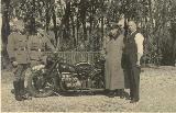 85k WW2 photo of BMW-R61, police plate, Holland