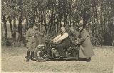 88k WW2 photo of BMW-R61, police plate, Holland