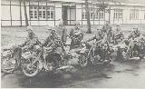 63k WW2 photo of 2 BMW R4, 2 BMW-R12 Wehrmacht gespann