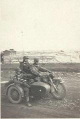 50k WW2 photo of BMW-R12 Wehrmacht gespann
