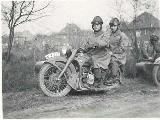 34k WW2 photo of early BMW-R12 Luftwaffe gespann