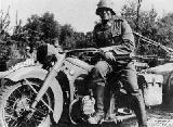 28k WW2 photo of BMW-R12 Wehrmacht gespann