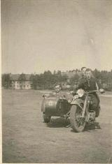 21k WW2 photo of early BMW-R12 sidecar, 9th company of 25th Infantry Regiment