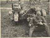 61k WW2 photo of BMW-R12 with Maxim MG