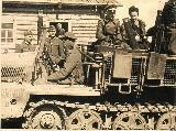 66k VI 1943 photo of Sd. Kfz. 10/4, Russia