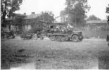69k WW2 photo of Sd. Kfz. 10 with Pak 37 gun, Poland