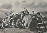 26k WW2 photo of Sd. Kfz. 10 and Pak 37