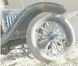 51k photo of 1925 Ford TT stakebody truck, wheel