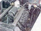 68k photo of 1940 Ford V8 DeLuxe Fordor sedan, engine