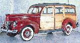 40k photo of 1940 Ford V8 DeLuxe station wagon