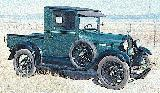 36k photo of 1928 Ford A closed cab pickup