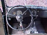 48k photo of 1935 Ford slantback fordor sedan, dashboard