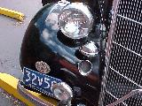 54k photo of 1935 Ford slantback fordor sedan, headlight