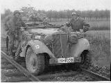 43k photo of Horch 830R Kfz.15 of SS, beginning of Flandria campaign