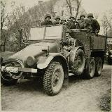 45k WW2 photo of Krupp Protze Kfz. 70 of SS-Waffen