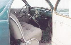 1937 Lincoln Zephyr coupe, interior