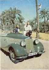 13k photo late 1930's run Italy-Afrika of Mercedes-Benz 170V Roadster