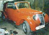 80k photo of 1939 model NSU-FIAT 1100 cabriolet, non-original axles