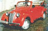 32k photo of 1939 model NSU-FIAT 1100 cabriolet, non-original axles