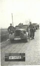 26k WW2 photo of 1935-36 Opel 2,0 Ltr. Wehrmacht Cabriolet