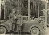 20k WW2 photo of Opel Kadett K38 Cabriolimousine, Division Grossdeutschland