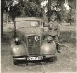 19k WW2 photo of 1936 Opel 2,0 Ltr. Wehrmacht Cabriolet