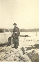 39k (1944) photo of field-repaired Opel Kadett K38 2-door Limousine, USSR