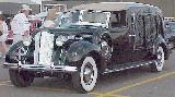 41k photo of 1938 Packard 8-cyl. wooden town car hearse by A.J.Miller, 1 built