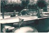 17k WW2 photo of 1938 Packard 8 convertible coupe with Luftwaffe pennant