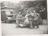 41k WW2 photo of Peugeot 402 and Magirus, Paris(?)