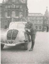 37k WW2 photo of Peugeot 402, Paris