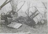 64k WW2 photo of destroyed Studebaker US6 of Red Army