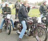 86k photo of George Spauwen (right) on 1939 Triumph-5T and Alex on 5T Export model