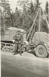 89k (VIII 1941) photo of Unic P107 SS anti-aircraft gun tractor, USSR