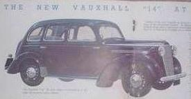 1938 poster of Vauxhall 14 J